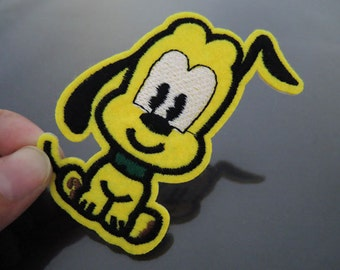 Iron on Patch - Cute Dog Patches Iron on Applique embroidered patch Yellow Dogs Patches Sew On Patch