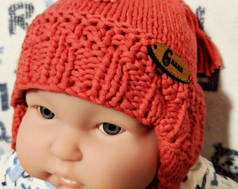 knitted hat for newborn, baby, baby cotton Beanie hat, knitted hand, new born, birth gift