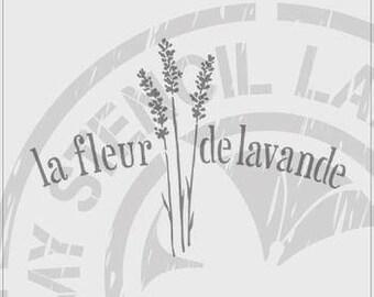 la fleur de lavande French Stencil #801