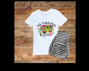 Ladies Glamping Queen Shirt - Glamping Shirt - Glamp Shirt - RV Queen - T-Shirt - tshirt - shirt