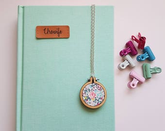Mini Embroidery Hoop Necklace
