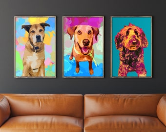 Custom dog portrait, Custom pet portrait, Dog portrait custom, Watercolor dog art, Portrait from photo, Custom dog painting by Mela Fay