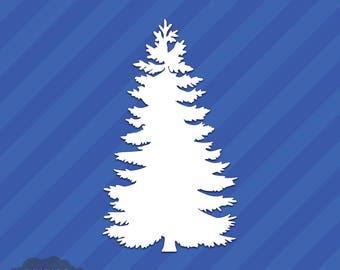 Evergreen Tree Vinyl Decal Sticker