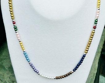 "Montessori 30"" Pearl Bead Bar Necklace, Best Teacher's Gift, Teacher Appreciation Gift, Maria Montessori"