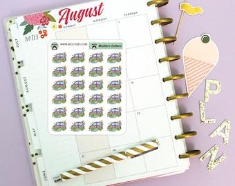 24 Car Wash Mini Stickers / Planner Stickers