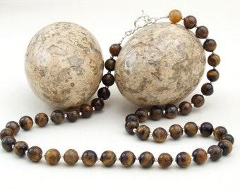Tigereye Bead Necklace