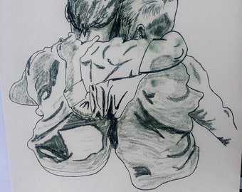 Brothers Ink Drawing