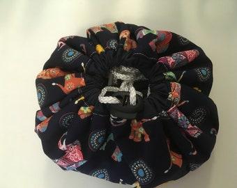 Make up pouch, travel drawstring make up mat
