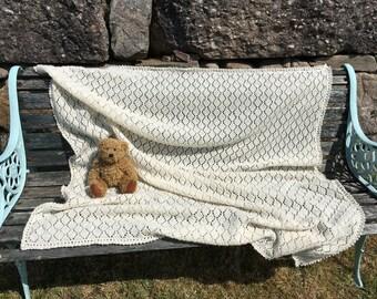 Baby Shawl in Pure Shetland Wool