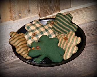Primitive Shamrock Bowl Fillers ~ St Patrick's Day Decor ~ Shamrock Ornaments ~ Irish Decoration ~ Shamrock Tucks ~ Lucky Clover ~ Shamrocks