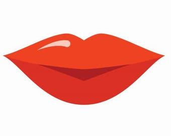 Lip business card etsy 150 lip shape business cards die cut business cards custom shape business cards reheart Choice Image