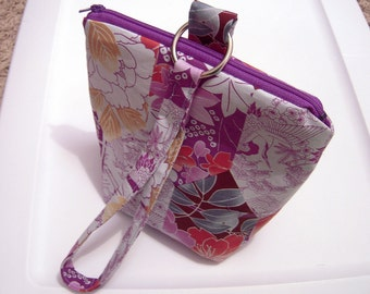 Purple and Blue Wristlet