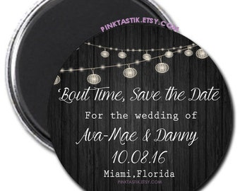 Rustic Wedding Save the Date Magnets, Wedding Invites, Rustic Wedding, Save the date magnets, Rustic Wedding magnets, Wedding Invite