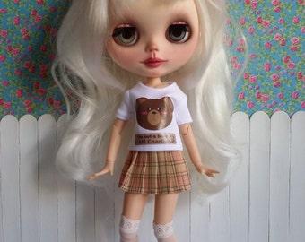 Conjunto camiseta oso y falda para BLYTHE y Pure Neemo