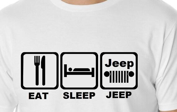 Eat Sleep Jeep T-shirt Jeep Tshirt