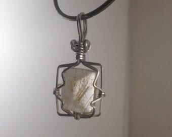 Sterling Silver Rutilated quartz
