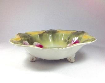 Antique Royal Windsor G&S Ltd Burslem Potteries Berry Bowl Strainer Pink Roses