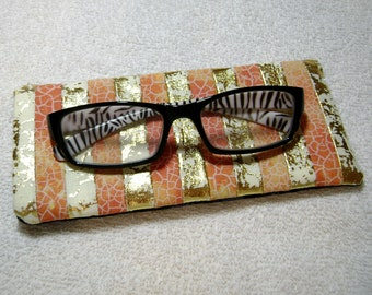 Fabric Eyeglass Case - Quilted Eyeglass Case - Glass Case - Batik Fabric Case - Sunglass - Handmade Case - EGC6