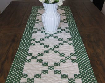 CLOSE OUT SALE St Patrick's Day Quilted Table Runner