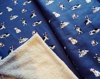 Frenchie French bulldog Themed Snuggle blanket