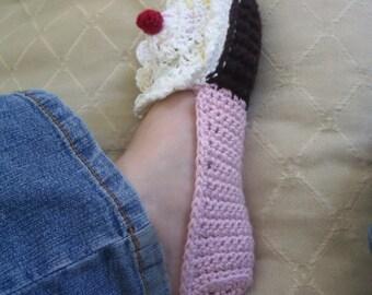 Download Now - CROCHET PATTERN Ladies Cupcake Slippers - Pattern PDF