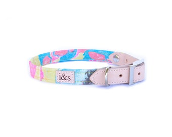 Dog Collar - Limited Edition Rose Gold Fibers - Yellow