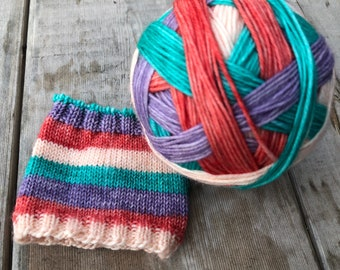 READY TO SHIP- Part of Your World - Self Striping Sock  Yarn