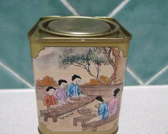 Vintage Tea Caddie - Tins - Canisters - Asian
