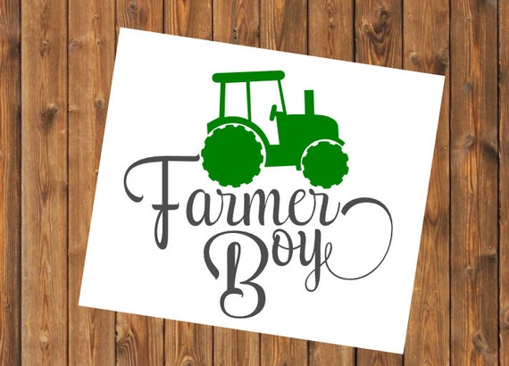 Free Shipping-Farmer Boy Yeti Rambler Tractor Decal Sticker, Yeti Farm Decal, Farming/Country Decal Sticker, Laptop Sticker,Farm Life