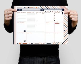 Business Planner, Printable Planner, Entrepreneur, Work Day Organiser, Productivity Planner, To Do List