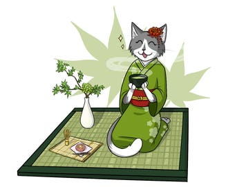 Green Tea Kitty