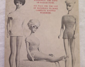 Vintage Knitting Patterns for 11.5 inch D by Virginia Lakin EUC