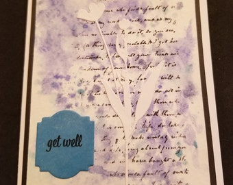 Gift, Greeting Card/Note Card, Get Well Card, Homemade Card