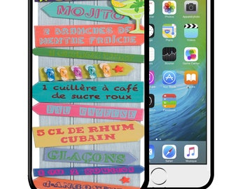 Shell iPhone and Samsung Galaxy recipe Mojito drink cover under Blister, new Bumper case