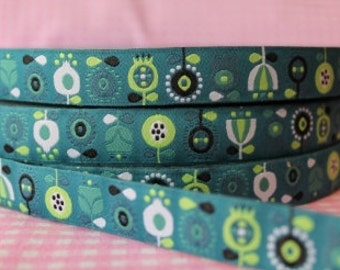 "Jacquard Ribbon Trim ""Scandinavian Flowers"" by bora design"