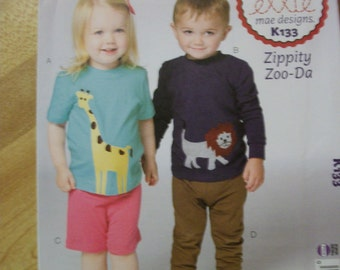 McCall K133 ellie mae designs Toddlers (T1 to T4) top, shorts and pants