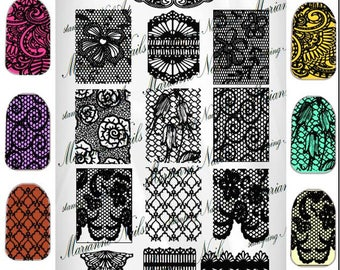 Nail art stamping plate Marianne Nails  Lace 101