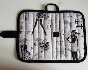 clutch bag for storing brushes and pencils