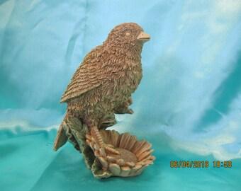 Vintage Resin Bird figurine   used