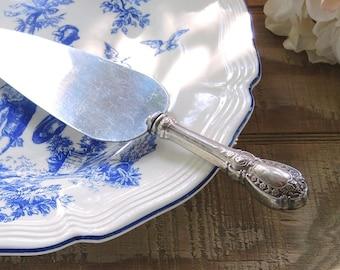 Vintage Ornate Silver Pie Server, Tea Party, Stainless, Cottage Style, Wedding Cake, Cake Server, Weddings