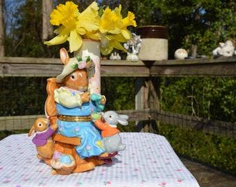 CWC Mother Rabbit Knitting Trinket Box