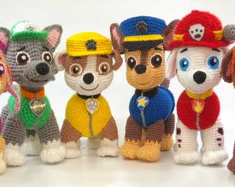 Paw Patrol crochet toy. Price is for 1 toy.