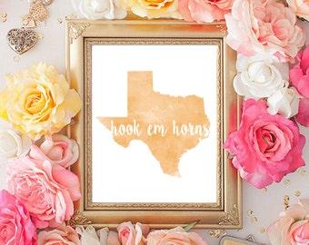 Texas Longhorns Printable (8x10)
