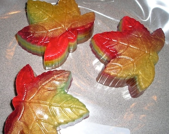 Autumn Apple Scented Maple Leaf Soap  - Vegan guest bath decorative multi