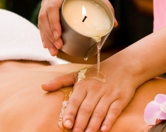 Natural Soy Massage Candle~ Essential Oil or Fragrance