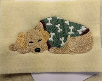 Any Occasion Cards - Golden Retriever in Pajamas