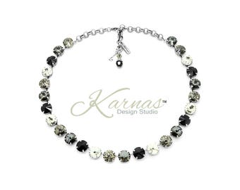 THE SOPHISTICATE 12mm Necklace Made With Swarovski Crystal *Choose Finish & Size *Karnas Design Studio™ *Free Shipping*