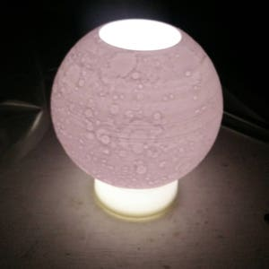 Moon Lamp | Lithophane | Multicolored Tea Light Base |