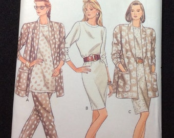 Butterick Fast And Easy Misses'/Misses' Petite Jacket, Dress, Top & Pants Pattern 6605 Size 18 - 20 - 22 Very Easy