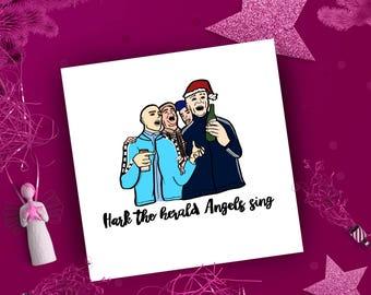 Funny Christmas Card, Christmas hymn, Xmas card